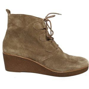 Lucky Brand Jaemma Suede Wedge Ankle Boots